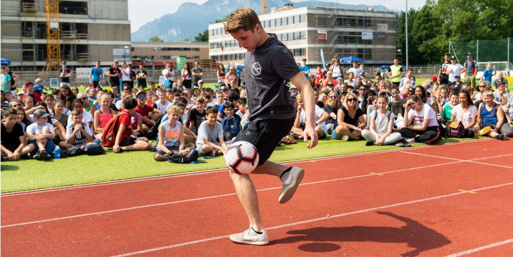 Freestyle Fußballer Martin Schopf
