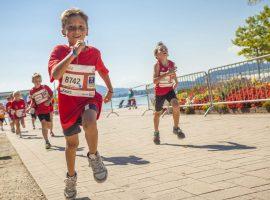 Kinder beim Laufmarathon