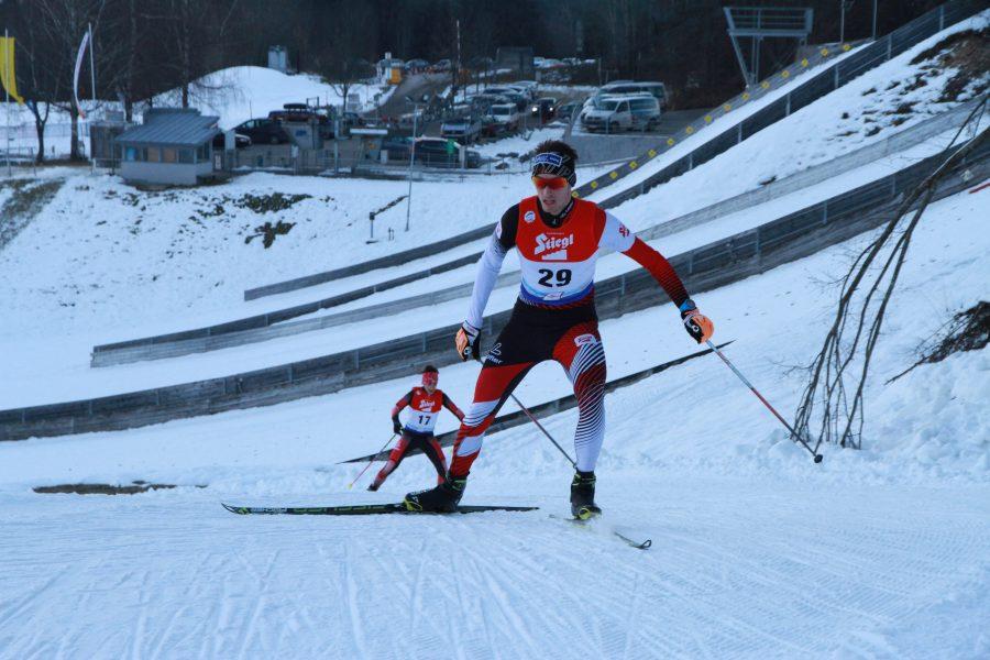 Philipp Kuttin beim Langlaufen