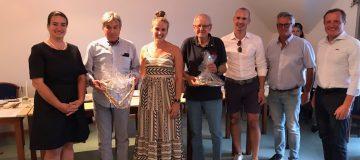 Vorstand des Wasserskiclubs mit Präsident der Sportunion Kärnten