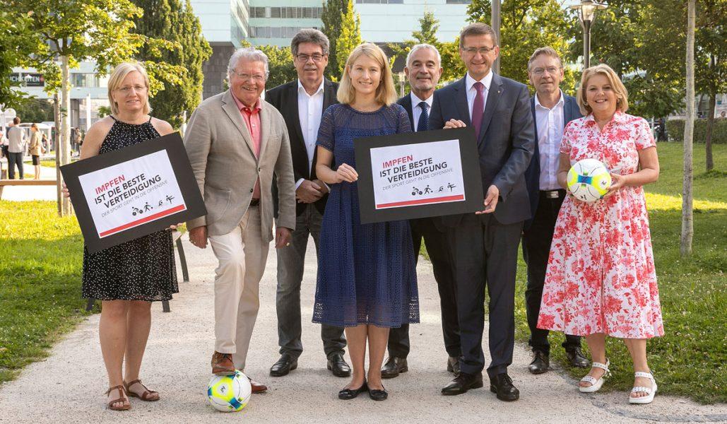 Vertreter Sport Impfoffensive Sportland OÖ SPORTUNION