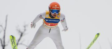 Marita Kramer beim Springen in Hinzenbach