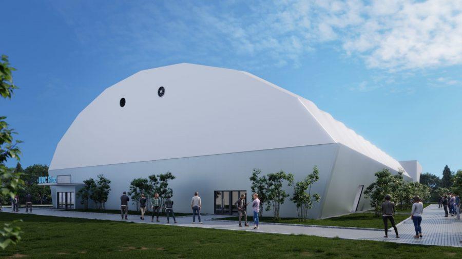 UVC Ried bekommt eigene Volleyballhalle - Außenansicht