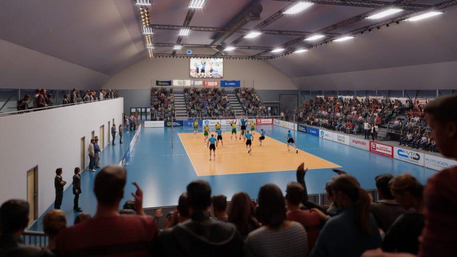 UVC Ried bekommt eigene Volleyballhalle - Innenansicht