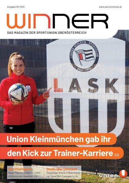 Lisa Alzner LASK - Titelseite Winner 02/21