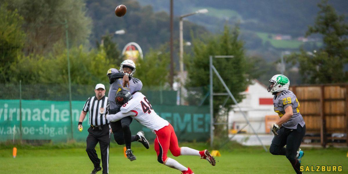 Tackle der Carinthian Lions gegen die Salzburg Ducks
