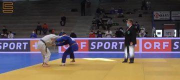 Domenik Wenger kämpft bei der österreichischen Staatsmeisterschaft Judo.
