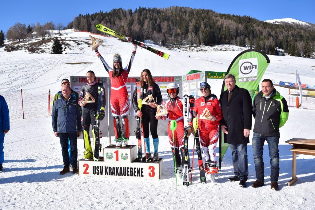 Siegerehrung Slalom am 2. Tag 26. Krakauer FIS-Tage 2020