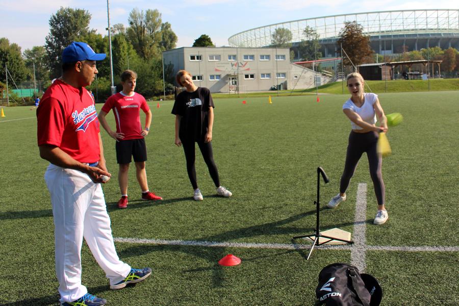 Baseballeinheit beim Trendsportfestival 2020 der Sportunion Wien