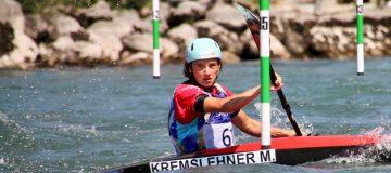 Moritz Kremslehner des Union Kanu Klub bei Junioren EM in Slowenien