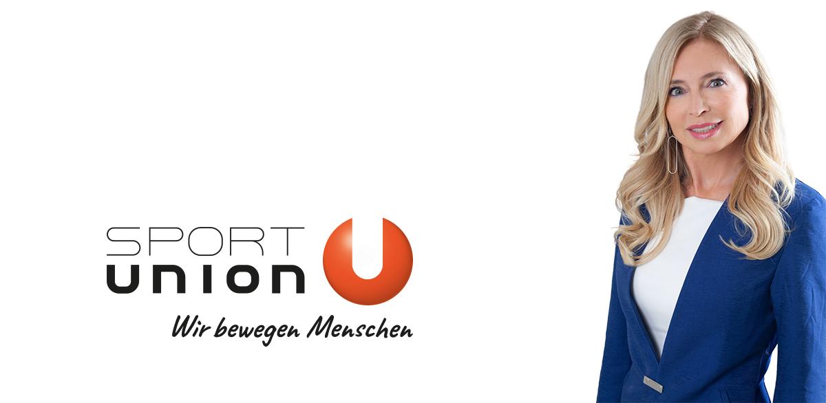 Sportunion Wien Präsidentin Dagmar Schmidt vor weißem Hintergrund