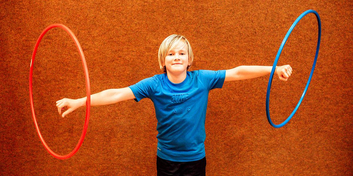 Kind bei einem Sommercamp der Sportunion Wien