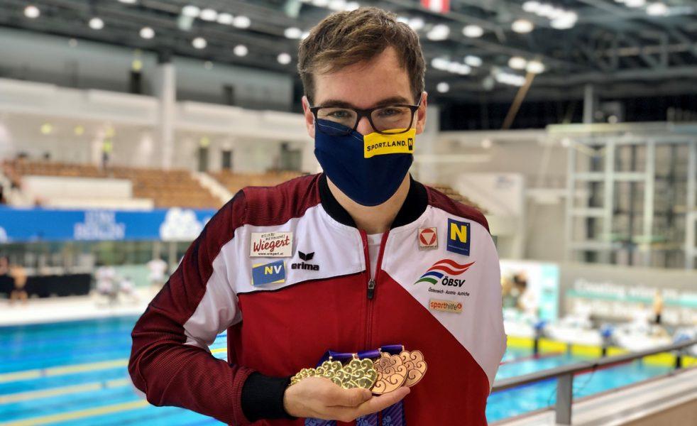Para-Schwimmer Andreas Onea gewinnt drei Medaillen in Berlin