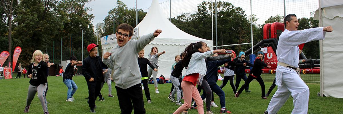 Tag des Schulsports am Gelände der SPORTUNION