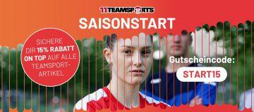 Saisonstart: Aktion bei 11teamsports Banner