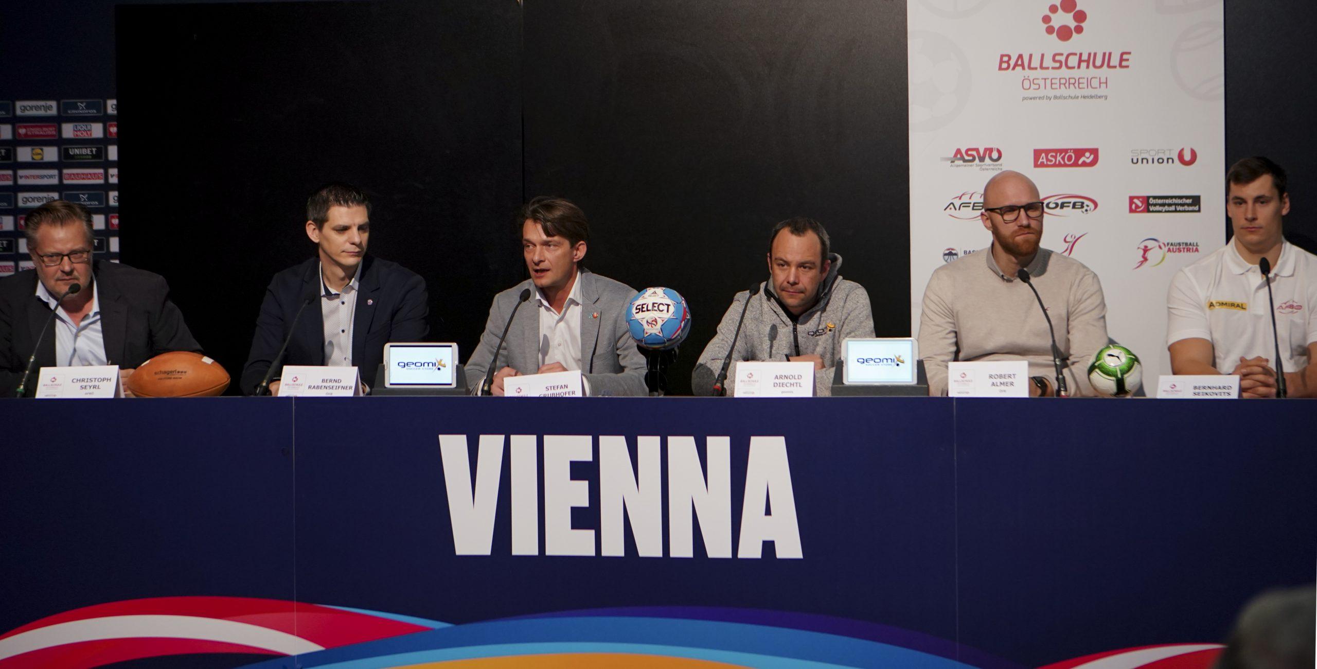 17.01.2020, Ballsport Pressekonferenz, Ballschule Oesterreich, Wien, Stadthalle
