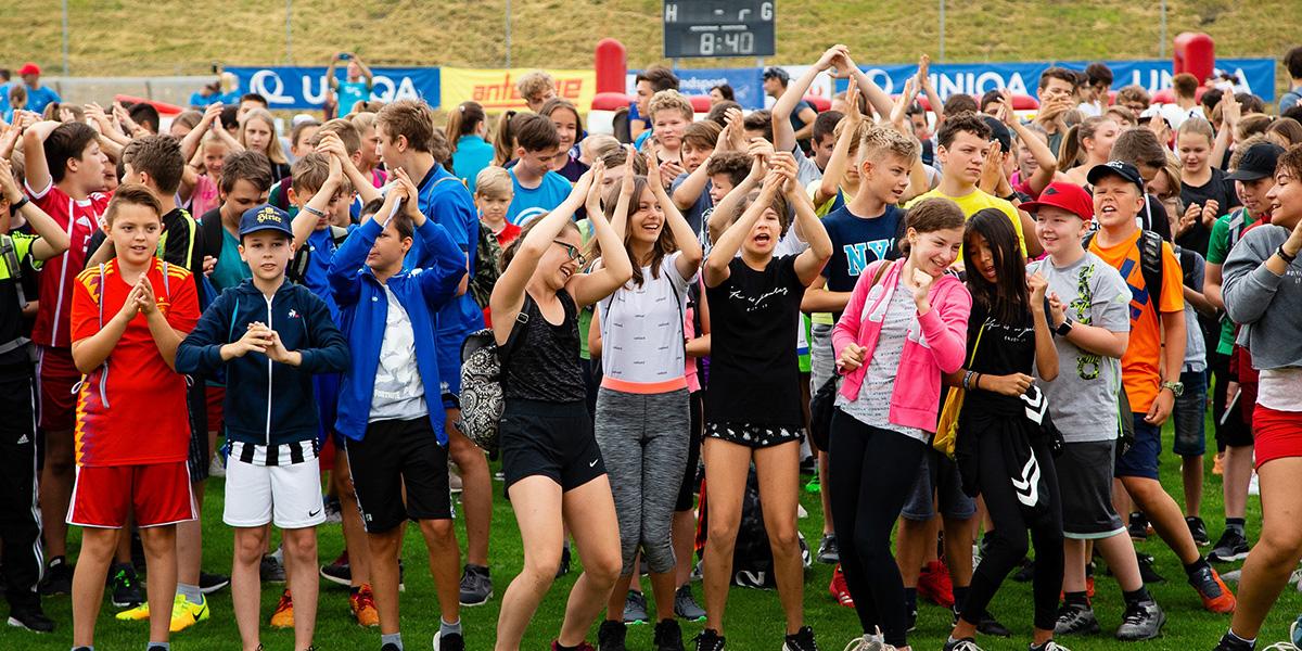 Sportevent - Gruppe von Jugendlichen
