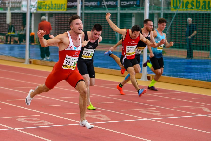 LINZ,AUSTRIA,22.FEB.20 - ATHLETICS - Austrian Indoor Championships, 60m, men. Image shows Markus Fuchs (AUT)