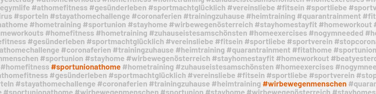 Hashtag Wolke #sportunionathome