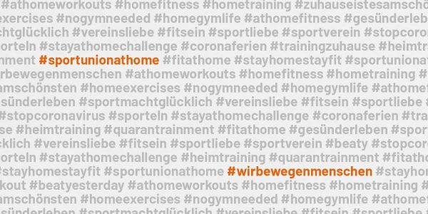 Hashtag-Wolke #sportunionathome
