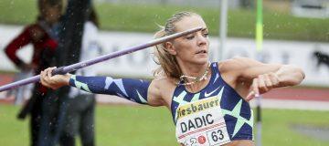 Ivona Dadic beim Speerwurf