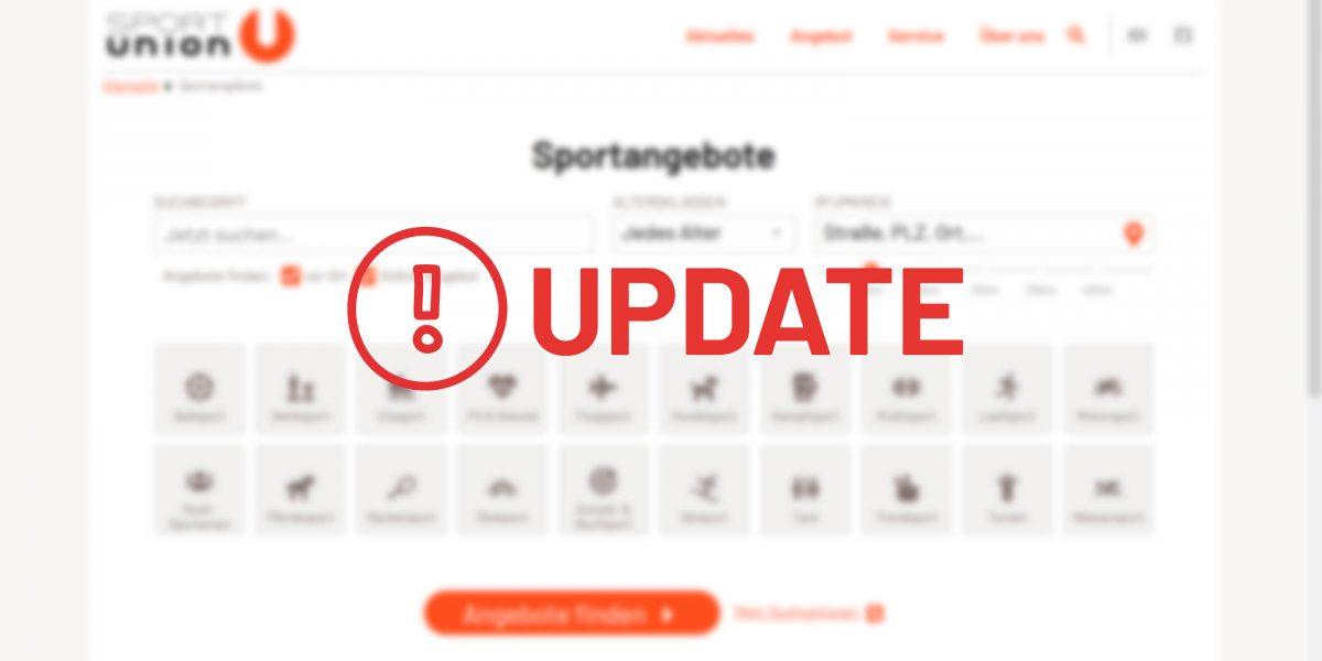 Das Sportprogramm erhält ein Update