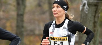 Eva Wutt im Lauf