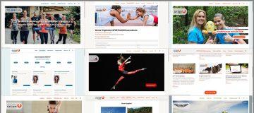 Screenshots von verschiedenen SPORTUNION Vereinswebsites