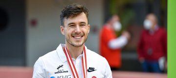 Markus Fuchs mit Medaille