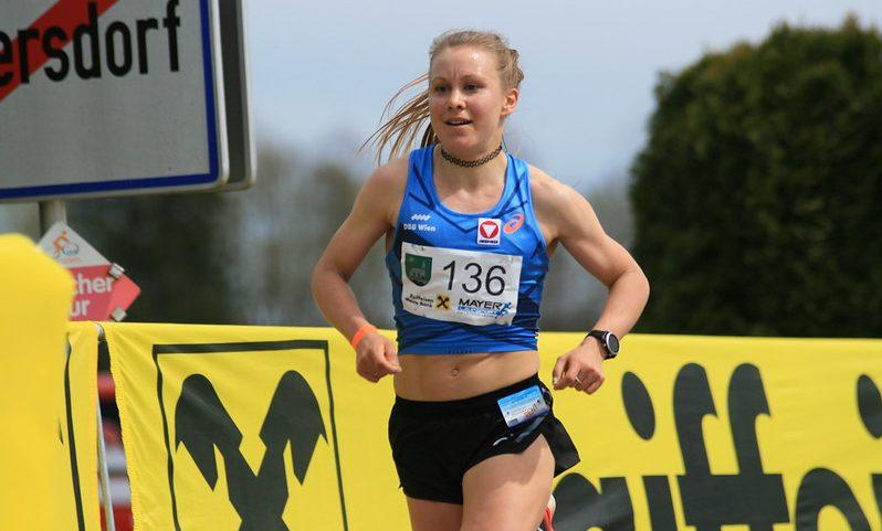 Julia Mayer beim Lauf