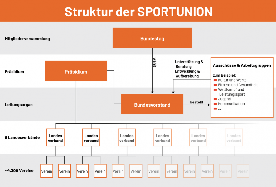 Struktur der SPORTUNION