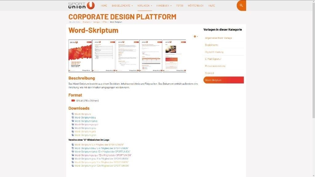 Corporate Design Plattform