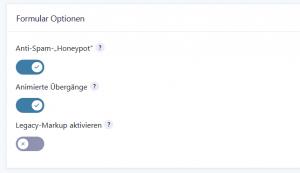 Screenshot Anti Spam Honeypot