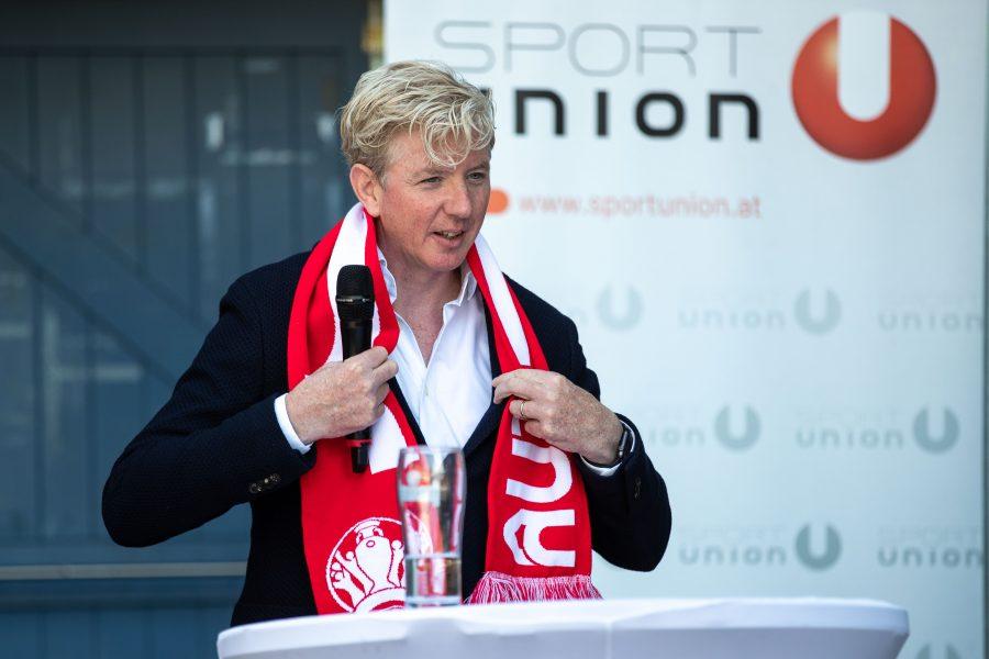 VIENNA,AUSTRIA,15.JUN.21 - VARIOUS SPORTS - Sportunion, press conference. Image shows president Peter McDonald (SPORTUNION). Photo: GEPA pictures/ Michael Meindl