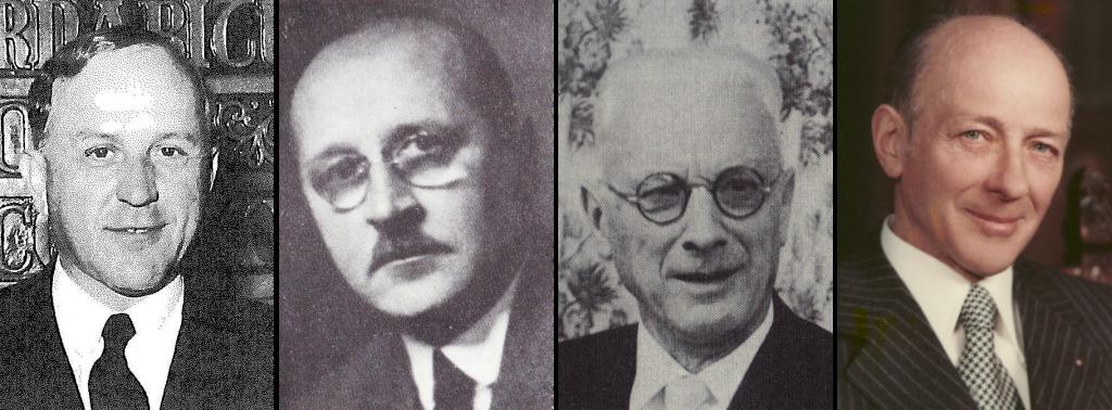 Gründungsmitglieder v.l.: Heinz Clabian (1901-1973), Josef Wicke (1887-1967), Hans Fuchs (1890-1986), Franz X. Gfatter (1906 -1986).