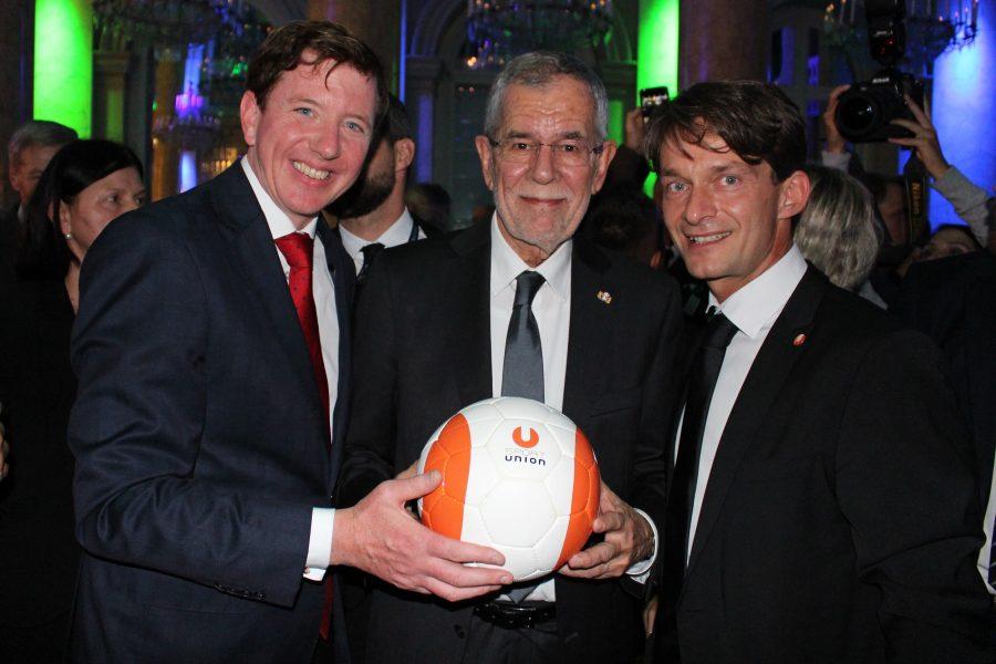 Peter McDonald, Alexander Van der Bellen und Stefan Grubhofer