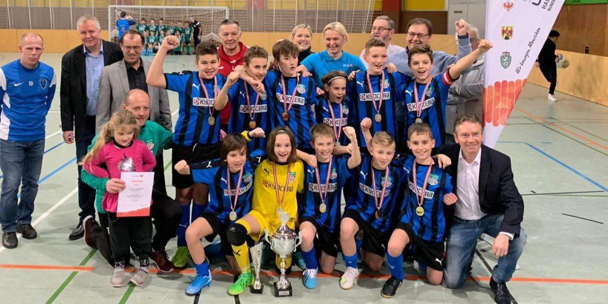 Gruppenfoto Siegerteam U12-SPORTUNION Bundesmeisterschaften Fußball 2020
