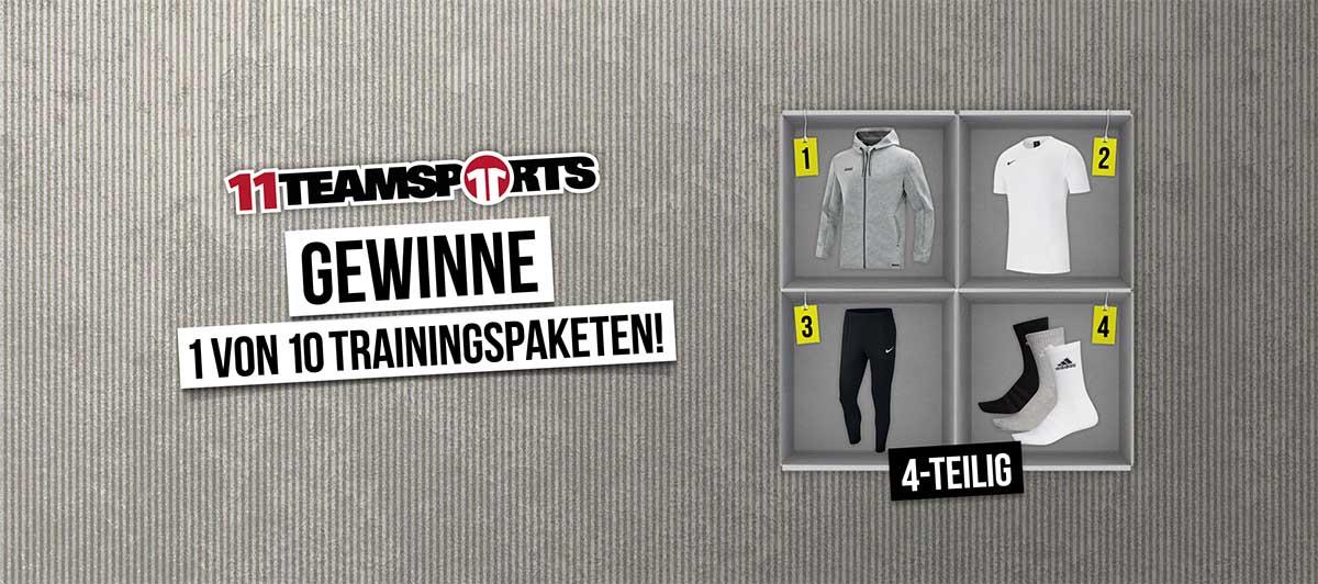 11Teamsports: Gewinne 1 von 10 Trainings-Paketen. 4 teilig. Jetzt mitmachen & gewinnen!