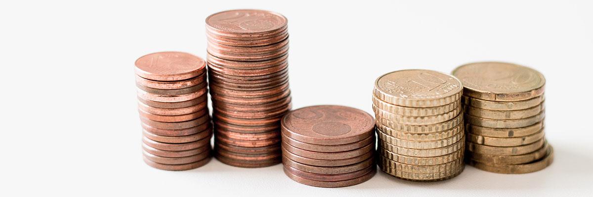 Münzen gestapelt