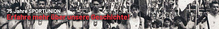 Banner 75 Jahre SPORTUNION - Erfahre mehr über unsere Geschichte!
